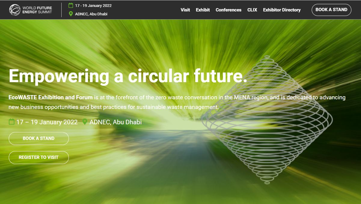 "Featured image for ""World Future Energy Summit | EcoWaste Exhibition & Forum 2022"""